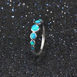 Anillo de Plata 925 joyas de moda para mujeres Opal Anillo de dedo