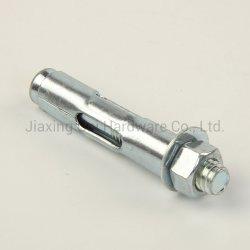 Fastener//manchon d'ancrage de l'ancre/avec écrou à bride hexagonal/boulon/écrou hexagonal d'ancrage en acier au carbone/Type/acier inoxydable