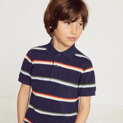 Оптовая торговля повседневный модных мальчика короткие рукава полосатые рубашки поло