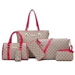6pcs Litthing Femme Sac sac à main et de définir la mode féminine Handbag Six-Piece Sac à bandoulière Sac fourre-tout sac Messenger Drop Shipping