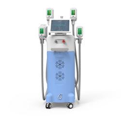 조각하는 세륨 FDA 입증 미장원 의료 기기 4 손잡이 뚱뚱한 어는 바디 기계 Cryolipolysis 체중 감소를 체중을 줄이기