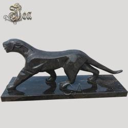 Leopardo Negro exterior de Mármol Piedra Panther escultura estatua