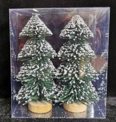 Mini Toren Gevormde het Bijeenkomen van de Pijnboom van de Sneeuw van de Kerstboom Witte Decoratie 3040cm van Kerstmis van de Decoratie van het Venster van de Desktop Kleine met Licht