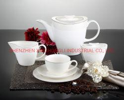 Insieme di tè stabilito della tazza e del piattino di Cina di osso della porcellana stabilita del piattino della tazza di caffè nuovo