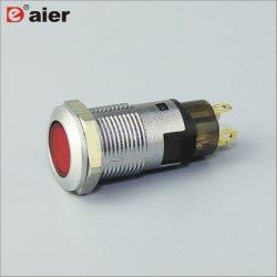 12mm no Elevador Momentâneo de empurrar o interruptor do Alojamento Fractius/Preto