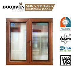 목제 알루미늄 프레임에 튼튼한 합동, 아프리카 별장을%s 단단한 나무 알루미늄 여닫이 창 Windows