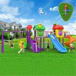 屋外の幼稚園のプラスチックスライドおよびセットされる振動組合せ(BBE-A38)
