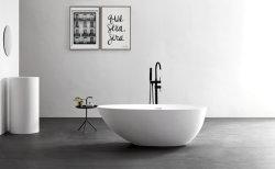 Oval Freestading moderna superficie sólida de acrílico bañera de piedra Precio barato
