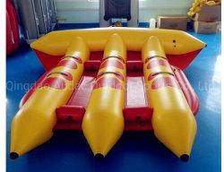 7인 8인 승객 어드벤처 스포츠 게임, 견인 가능한 맞춤형 크기 0.9mm PVC 플라잉 피시 타플라식 바나나 보트