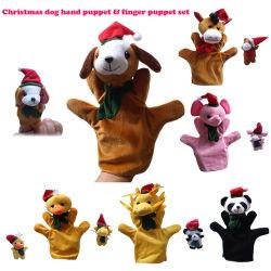 Set di cucciolo con dito in pezzetto morbido e peloso natalizio Animazioni cartoon