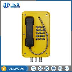 À prova de vandalismo telefone VoIP para os túneis, resistente à intempérie Marine Voice Over IP Telephone