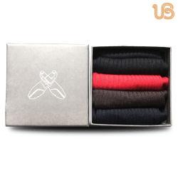 doppelter Zylinder gemerzerisierte Mann-Kleid-Socke der Baumwolle200n mit Geschenk-Kasten-Verpackung