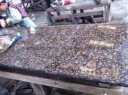 Construções prefabricadas aliviaram/Bullnose Marrom Báltico/bancada em granito laminado para as ilhas de cozinha vaidade