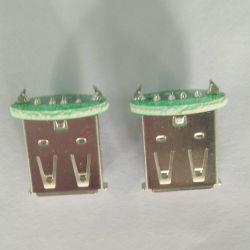 A/F de USB 2.0 de 180 GRADOS BLANCO DIP PCB