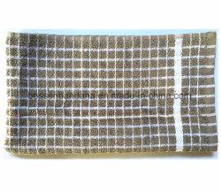 Produire OEM Custom Jacquard Coton Terry vérifie Serviette Serviette Textiles cuisine