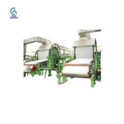Les matières premières la pâte de bois les déchets de papier toilette Machine à papier