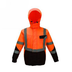 Consruction Cyclisme Hi Viz Veste personnalisé d'hiver de vêtements de travail de la sécurité