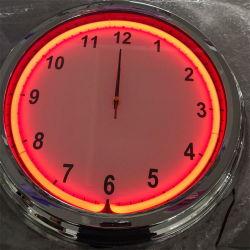 Venda por preço de fábrica na China 18polegadas vazio cromado tubo único design personalizado de neon de relógio de parede