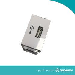 Cargador USB 2.1A Conectores Modulares Módulo de montaje