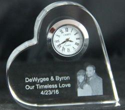 Хрустальное стекло в форме сердца свадебные пользу судов подарочные часы