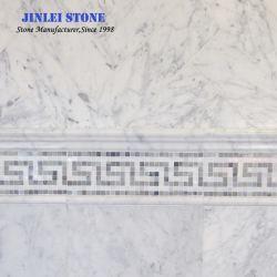 Pavimentazione di marmo bianca italiana di pietra naturale della lastra/mattonelle di Bianco Carrara di esagono/Vanitytop/marmo controsoffitto della cucina