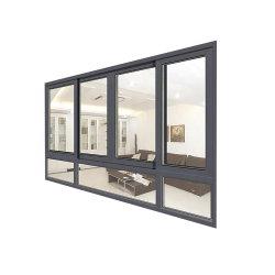 Modernes europäisches Aluminiumglasfenster schiebendes Windows mit grosser Ansicht
