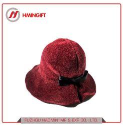 De Decoratie Britten van de Boog van Chenille van de Winter van de herfst en de Manier van Londen Styl Dame Bucket Hats