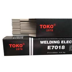 Toko AWS A5.1 E7018 de la marque faible teneur en hydrogène les baguettes de soudure
