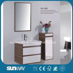 側面のキャビネットとのヨーロッパの衛生製品のメラミン洗面器の浴室の虚栄心