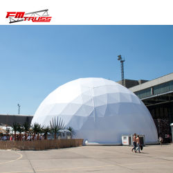 Grande piscina caso tenda de Exposições Dome Geodésico Parte de luxo tenda