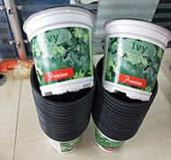 Vasos plásticos Plantadeiras Impressão Colorida Flower Pot, personalizado projetado Pot