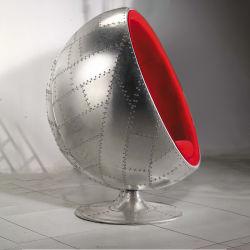 工場直接販売の産業風の骨董品の布の金属のアルミニウム球の椅子