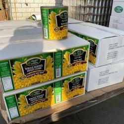 健康の野菜の詰まるカートンの全カーネルのスイートコーンの黄色カラー