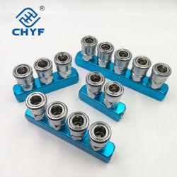 공압 빠른 피팅 커넥터 알루미늄 없는 다중 파이프 공기 배기 SML 스트립 SML 및 공기 배기 디스트리뷰터 커넥터