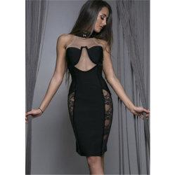 سوداء رسن [نكد] [شفّون] شريط غور مشدودة ثوب ناد إحتفال مساء ثوب