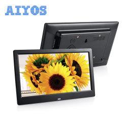 Última Tamanho Pequeno molduras fotográficas digitais promocionais portátil com controlo remoto