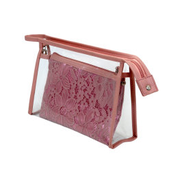 Viagens Personalizadas claro PVC EVA Makeup Lavar Holográfico de Bolsa saco cosméticos