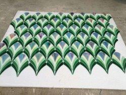 Waterjet Cut fleur verte tuile motif mosaique de vitraux