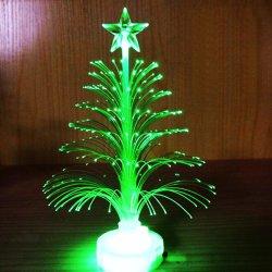 소형 빛난 다채로운 섬유 작은 크리스마스 나무 빛