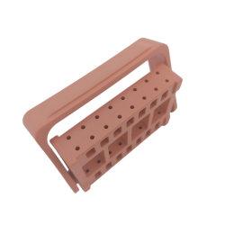 컬러풀한 플라스틱 휴대용 편리한 Dental Bur Endo 파일 홀더 기기 16홀 다이아몬드 버스와 엔도 파일 상자