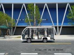 Commerce de gros 14 places fermées Bus navette touristique d'alimentation batterie