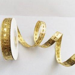 Or Glitter métallique/ruban pour décoration de Noël fabricant de gros