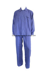 Poly-Cotton/100% algodão sarjado/Poly-Cotton Calças de trabalho&Shirt Simples
