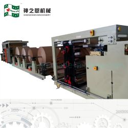 Sigillamento centrale del sacchetto della pellicola del PE della carta kraft di Multiwall Che fa macchina con nella riga 4 stampante a colori