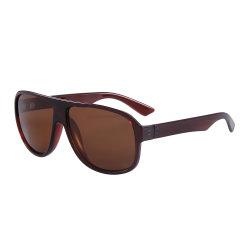 Lente marrom óculos de sol o logotipo personalizado com lente polarizada óculos de plástico