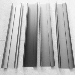 Material de construção de calha de porta/janela/folha de metal em pó perfil de alumínio revestido