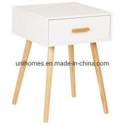 Chambre à coucher chevet en bois Décoration de table de nuit le tiroir de rangement avec tiroir Table Meubles de couleur blanche Home/ table de nuit Table de nuit