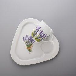 Vendre à chaud et rond blanc tasse à café en céramique avec poignée