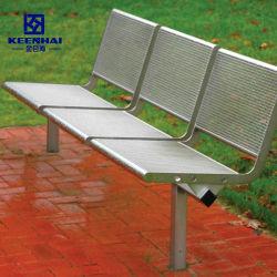 Esperando al aire libre Jardín de acero inoxidable Banco para estacionar