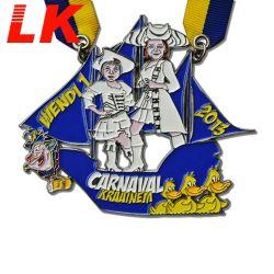 2020 de PromotieMedaille van Medaille van de Herinnering van Carnaval Carniv Carnaval van het Afgietsel van de Matrijs van Duitsland van de Kleur van het Email van de Eer van de Fiesta van de Douane van de Gift Zachte met Lint/Koord/Ketting